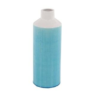 Oliver & James Buri Ceramic Blue and White Spouted Vase