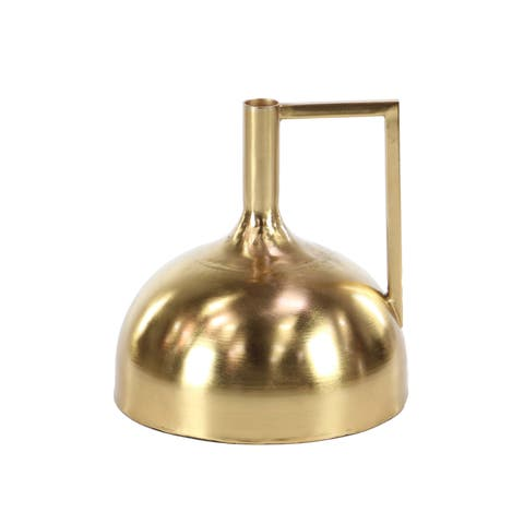 Strick & Bolton Martha Modern Gold Long-necked Domed Iron Vase