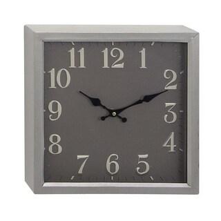 The Gray Barn Wild Cherry Modern Square Iron Wall Clock