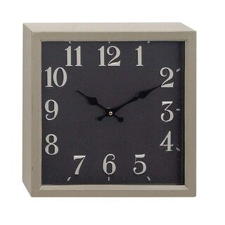 Clay Alder Home Waccamaw Black Display Modern Square Iron Wall Clock