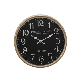 Copper Grove Artlish 12 inch Contemporary Iron London-inspired Vintage Round Wall Clock