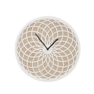 The Gray Barn Wild Cherry Contemporary Latticed Wooden Wall Clock