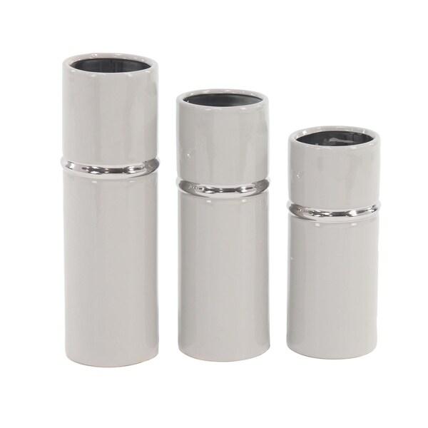 Shop Strick Bolton Dinah 3 Piece Modern Ceramic Cylindrical Gray