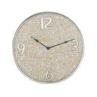 18 inch Modern Round Shell-Inlaid Stainless Steel Wall Clock