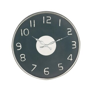 14 inch Modern Round Black Stainless Steel Wall Clock