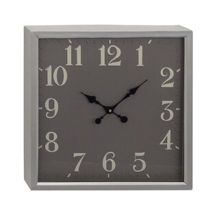 Link to Porch & Den Merrie Lynn Square Iron Wall Clock Similar Items in Decorative Accessories