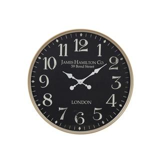 Porch & Den Merrie Lynn London-Inspired Vintage Round Wall Clock