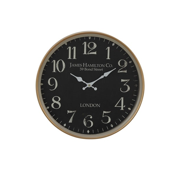 Copper Grove Artlish 16-inch Vintage Round Wall Clock