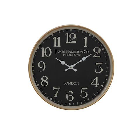 Copper Grove Artlish 16-inch Vintage Round Wall Clock
