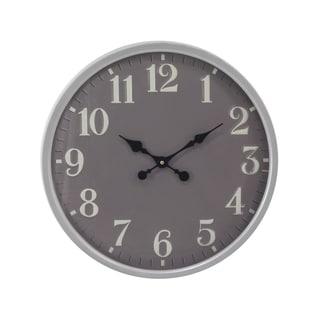 Porch & Den Waccamaw Contemporary Iron Round Wall Clock