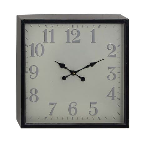 Copper Grove Seymour Square Iron Wall Clock