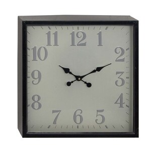 Oliver & James Buri Square Iron Wall Clock