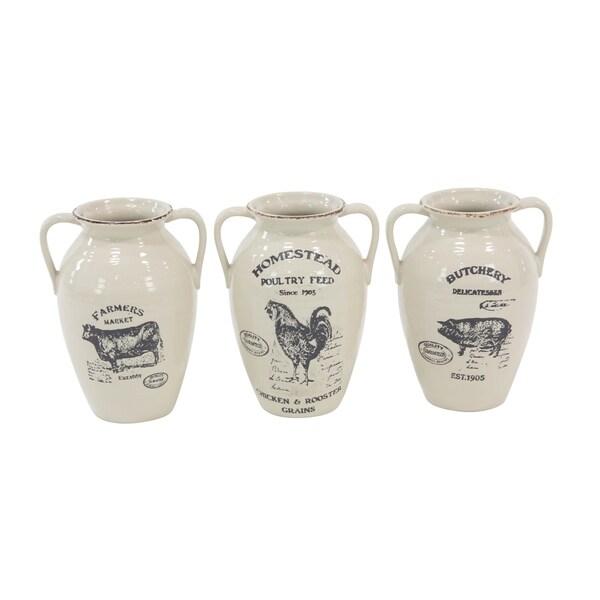 Shop The Gray Barn Jartop Farmhouse Ceramic Amphora 10 Inch