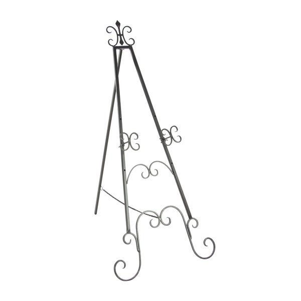 Copper Grove Chatfield Black Iron 49-inch Scrolled Easel