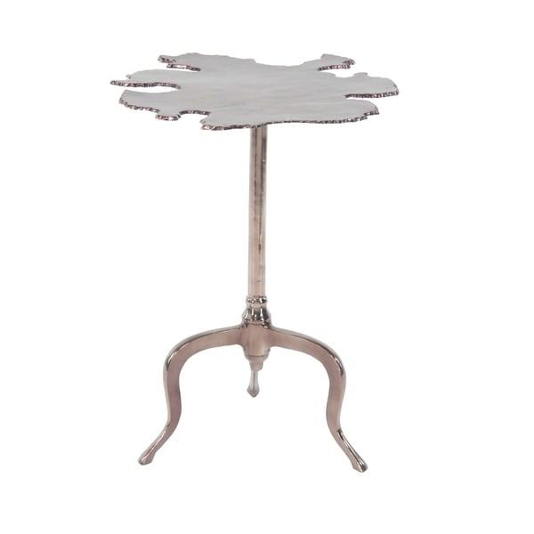 27 inch Modern Aluminum Irregular-Shaped Brown Side Table