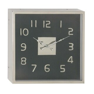 Oliver & James Buri Black Stainless Steel Wall Clock