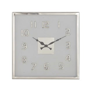 14 inch Modern Square White Stainless Steel Wall Clock
