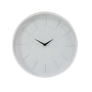 Carson Carrington Alavus Modern Round Analog Wooden Wall Clock