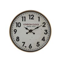 The Gray Barn Jartop 23-inch Contemporary Iron London-Inspired Round Wall Clock