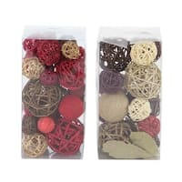 Set of 2 Coastal Sola Balls Decorative Boxes