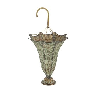 Maison Rouge Lamartine Bronze-finish Iron Latticed Umbrella Stand