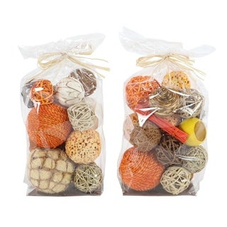 Carson Carrington Levanger Set of 2 Sola Ball Decorative Bags