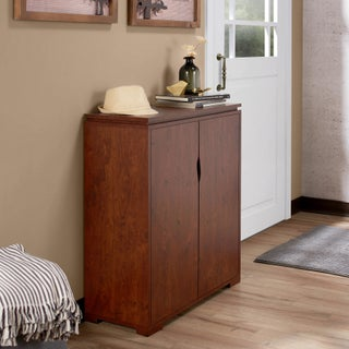 Furniture of America Tabbi Contemporary 2-door 4-shelf Shoe Cabinet (3 options available)