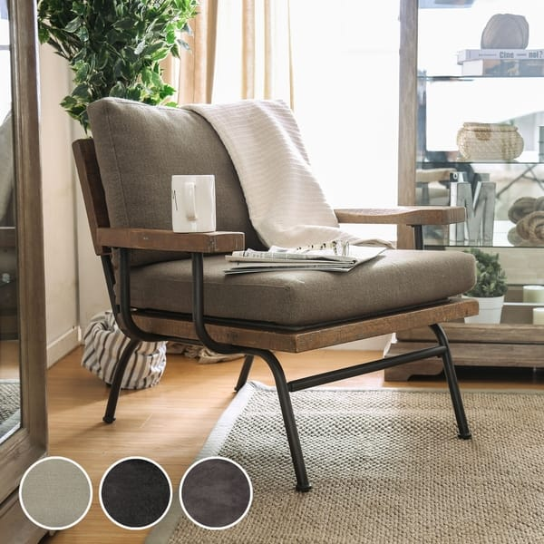 Wondrous Shop Copenhagen Industrial Taupe Upholstered Accent Chair By Gamerscity Chair Design For Home Gamerscityorg