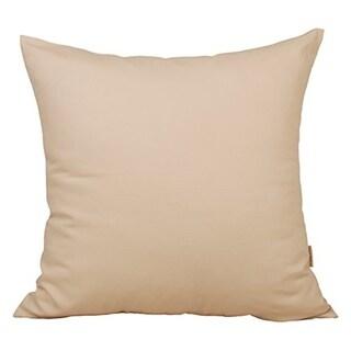 Cream Solid Cotton Linen Pillowcase
