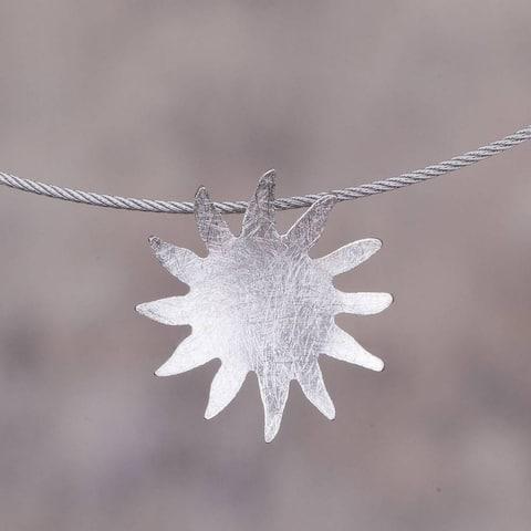 "Handmade Sterling Silver 'Sun Splash' Necklace (Peru) - 7'6"" x 9'6"""
