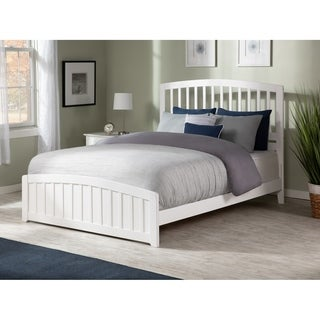 Atlantic Furniture Richmond Whote Wood Full Bed with Matching Footboard