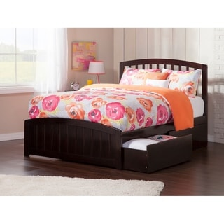 Richmond Full Platform Bed with Matching Foot Board with 2 Urban Bed Drawers in Espresso