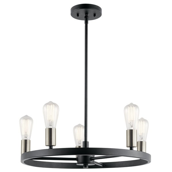 Kichler Lighting Brooklyn Collection 5-light Matte Black Chandelier