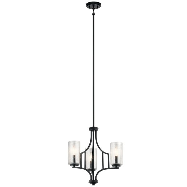 Kichler Lighting Vara Collection 3-light Black Mini Chandelier