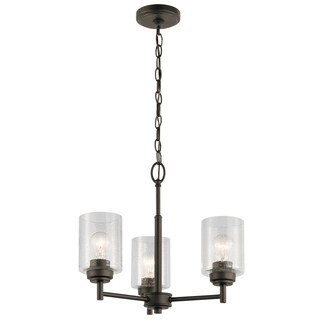 Kichler Lighting Winslow Collection 3-light Olde Bronze Mini Chandelier