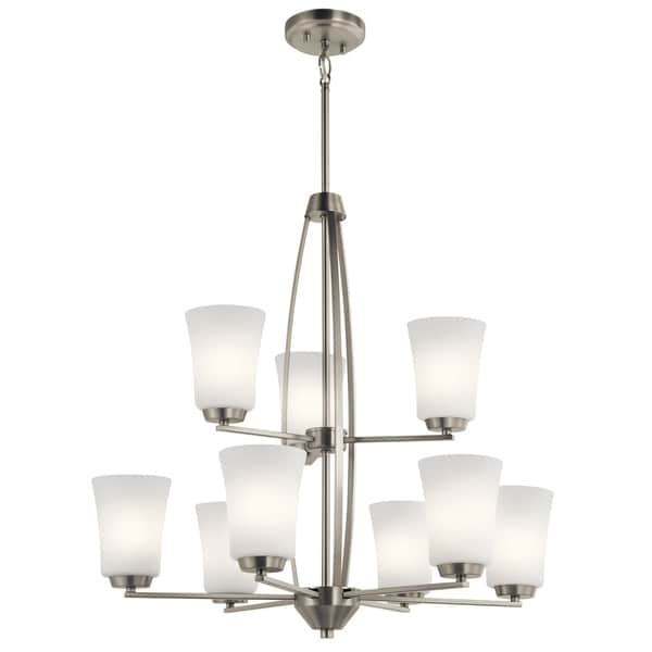 Kichler Lighting Tao Collection 9-light Brushed Nickel Chandelier
