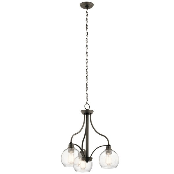 Kichler Lighting Harmony Collection 3-light Olde Bronze Chandelier