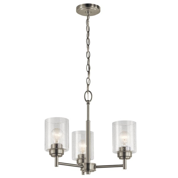 Kichler Lighting Winslow Collection 3-light Brushed Nickel Mini Chandelier