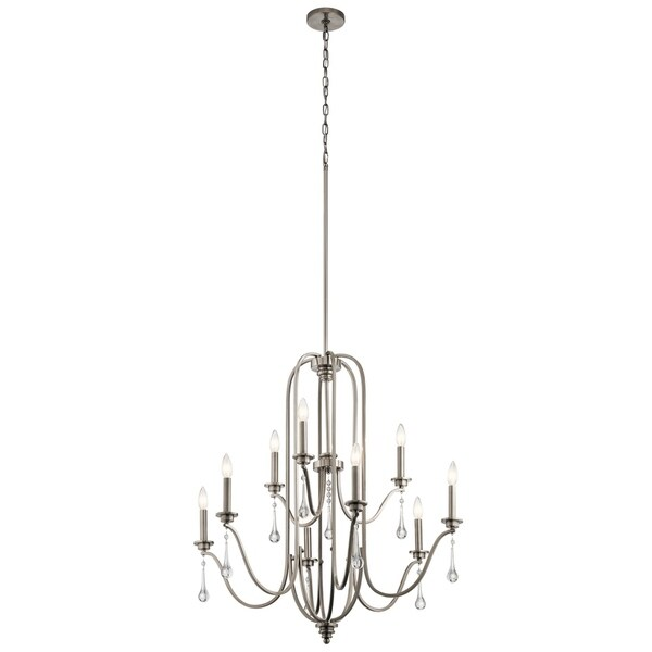 Kichler Lighting Karlee Collection 9-light Classic Pewter Chandelier
