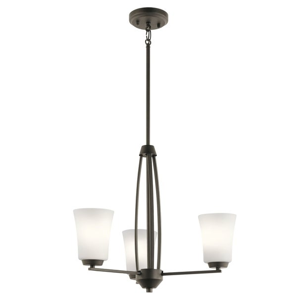 Kichler Lighting Tao Collection 3-light Olde Bronze Chandelier