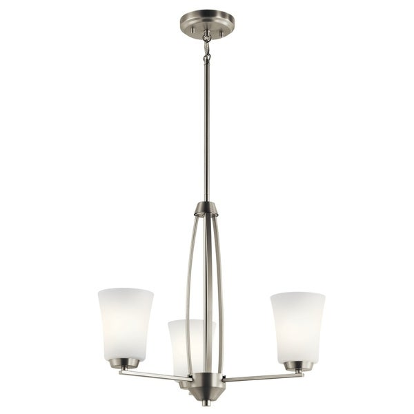Kichler Lighting Tao Collection 3-light Brushed Nickel Chandelier