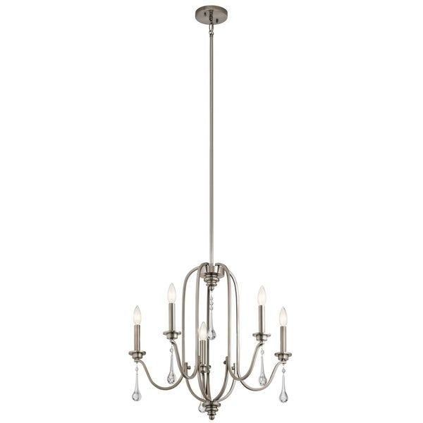 Kichler Lighting Karlee Collection Classic Pewter Finish Steel 5-light Chandelier