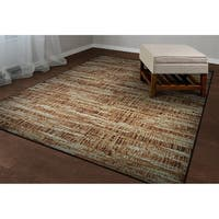 Couristan Easton Maynard Antique Cream-Salmon Area Rug - 6'9 x 9'6