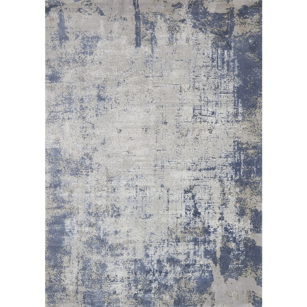 Alexander Home Distressed Abstract Blue Grey Textured