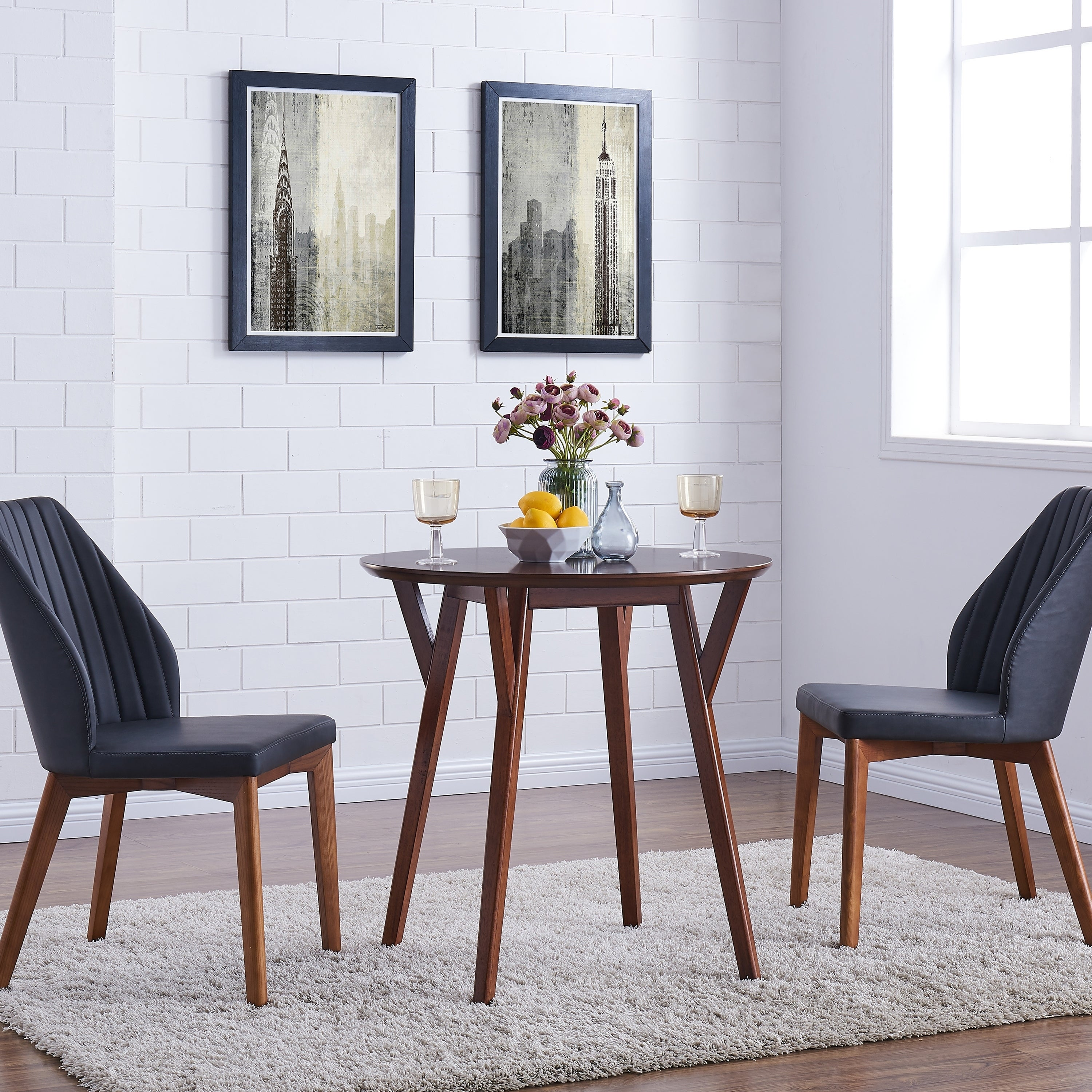 Space friendly furniture Sofa Bed Shop Harper Blvd Shanna Round Dark Sienna Small Space Dining Table Brown Free Shipping On Orders Over 45 Overstockcom 19568129 Ashley Furniture Homestore Shop Harper Blvd Shanna Round Dark Sienna Small Space Dining Table