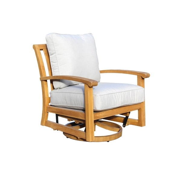 Shop Havenside Home Goodwin Natural Teak Outdoor Swivel