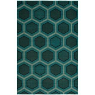 Carson Carrington Norrkoping Honeycomb Geometric Modern Area Rug (8 x 10 - Smoke Blue)