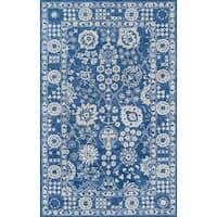 Momeni Cosette Denim Blue Hand Tufted Wool Rug - 9'6 x 13'6