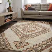 Mohawk Prismatic Mohave Neutral Traditional Tribal Geometric Area Rug - 8' x 10'