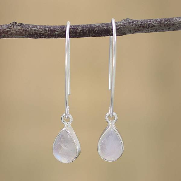 silver filigree rainbow dsc in sterling stone earrings moonstone moon